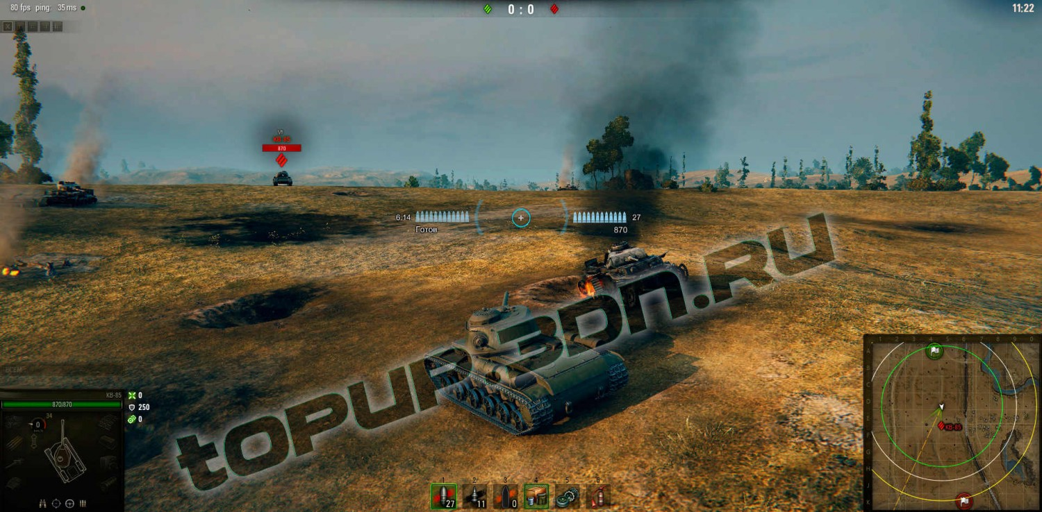 Игра World of Tanks 7
