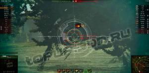 Красивый белый прицел World of Tanks