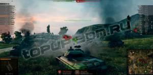 индикатор перезарядки над танком противника